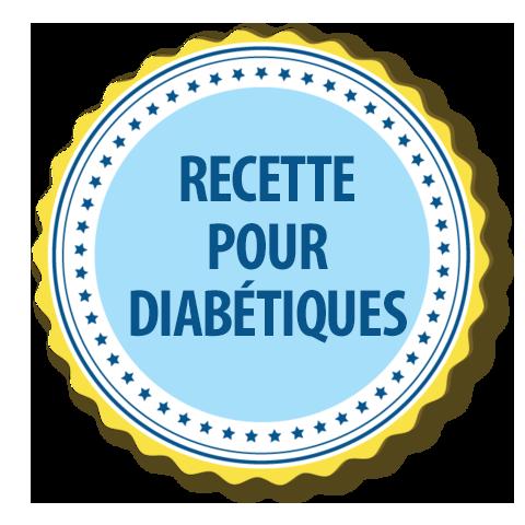 recette adaptée au diabète