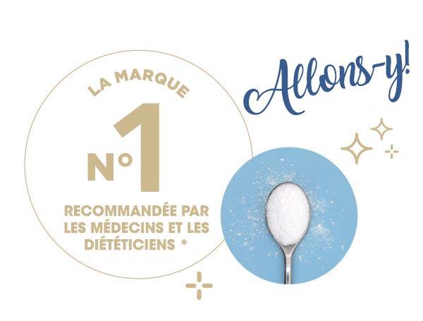 #1 marque recommandée par les médecins et les diététistes